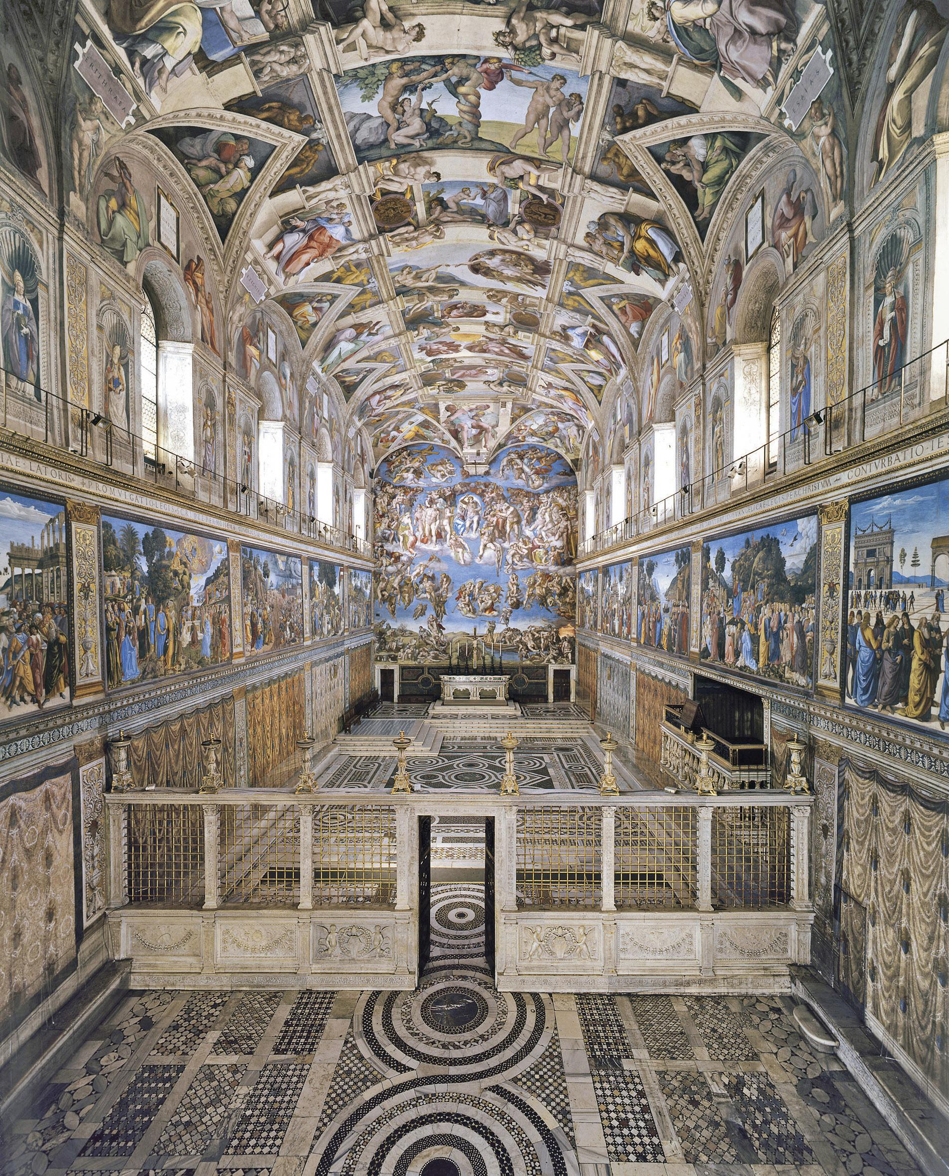 Fabertechnica cappella sistina citt del vaticano 2014 for Decorazione quattrocentesca della cappella sistina