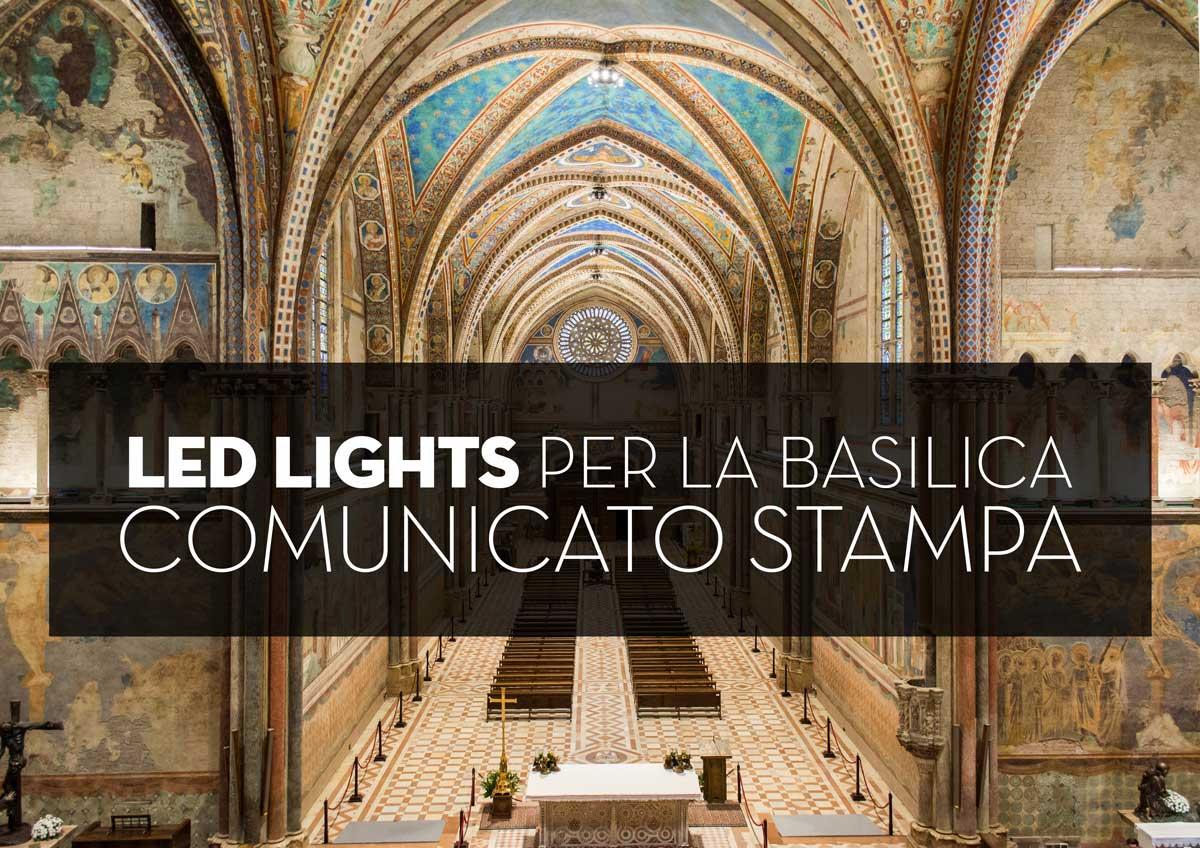 Fabertechnica u nuova illuminazione per la basilica di san