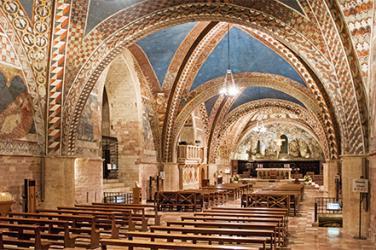 progetto illuminazione led basilica di san francesco assisi